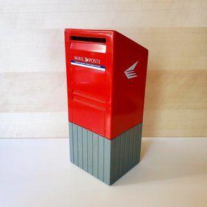 3/30$ 🍂 Canada Post Mailbox Piggy Coin Bank Mail Poste Branding 90s Promo